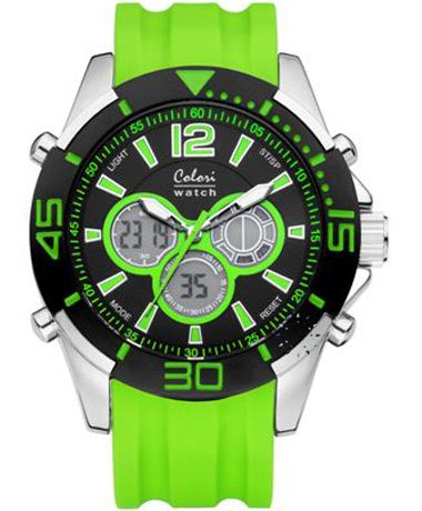 COLORI Sport AnaDigi Light Green Silicone Strap Τιμή: 78€ http://www.oroloi.gr/product_info.php?products_id=34896