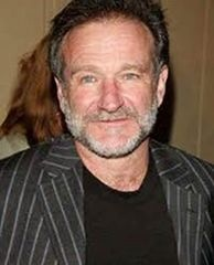 Robin Williams...met him yrs ago while working as an extra in a movie. He is so nice,personable and funny even n person!