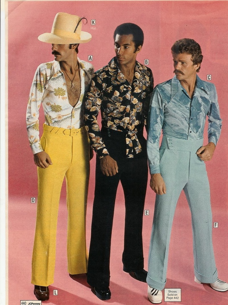 This is just SO bad I don't know where to begin -- particularly that guy on the left whose shirt is purposely made to show his chest hair. Good Grief! Sears 1975.