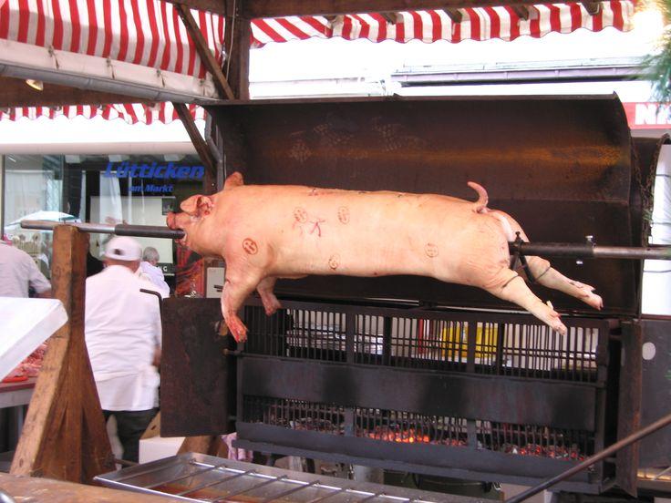 Pig roast, Wittlich, Germany