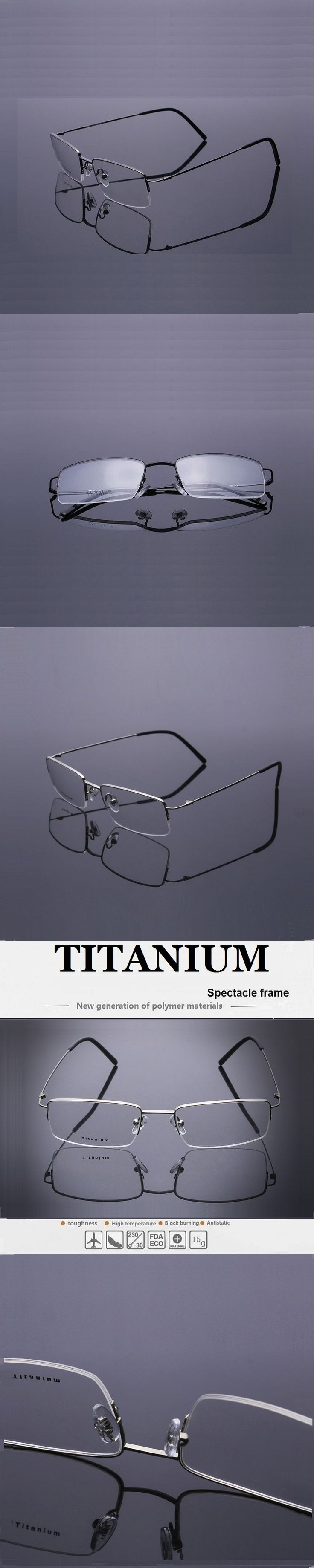52-18-140 new men's business  titanium spectacle frame half frame myopia spectacles frame 8995 lentes opticos  free shipping