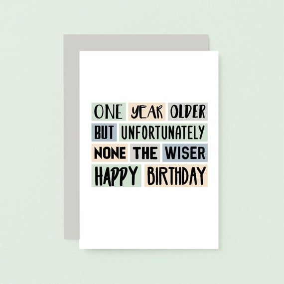 Funny Birthday Card For Friend Cards For Her Brother Etsy In 2021 Birthday Cards For Brother Birthday Cards For Friends Sister Birthday Card