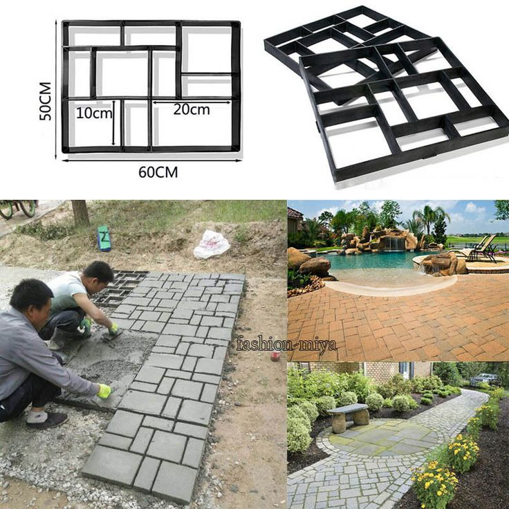 Garden Driveway Stone Mold Walk Maker Paving Concrete Stepping Mould  Pavement #Unbranded