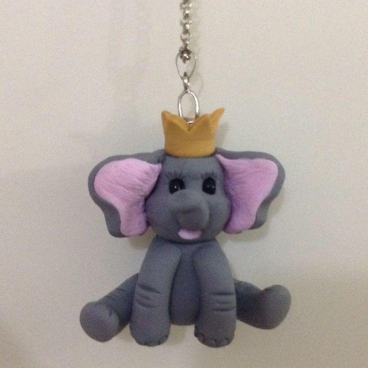 Pink elephant necklace