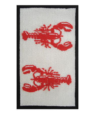 Take A Look At This Red U0026 White Lobster Rug By Pop Accents On #zulily