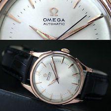 1952s Vintage OMEGA Automatik Half Rotor Bumper Gold Cap Stahl Herren Uhr Watch