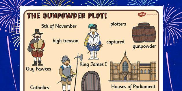 The Gunpowder Plot Word Mat