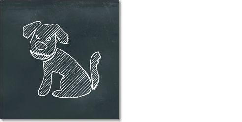 Chalk - Gefährlicher Hund - SchilderSchön – der Online-Shop für schöne Schilder, Schilderserien und Piktogramme.