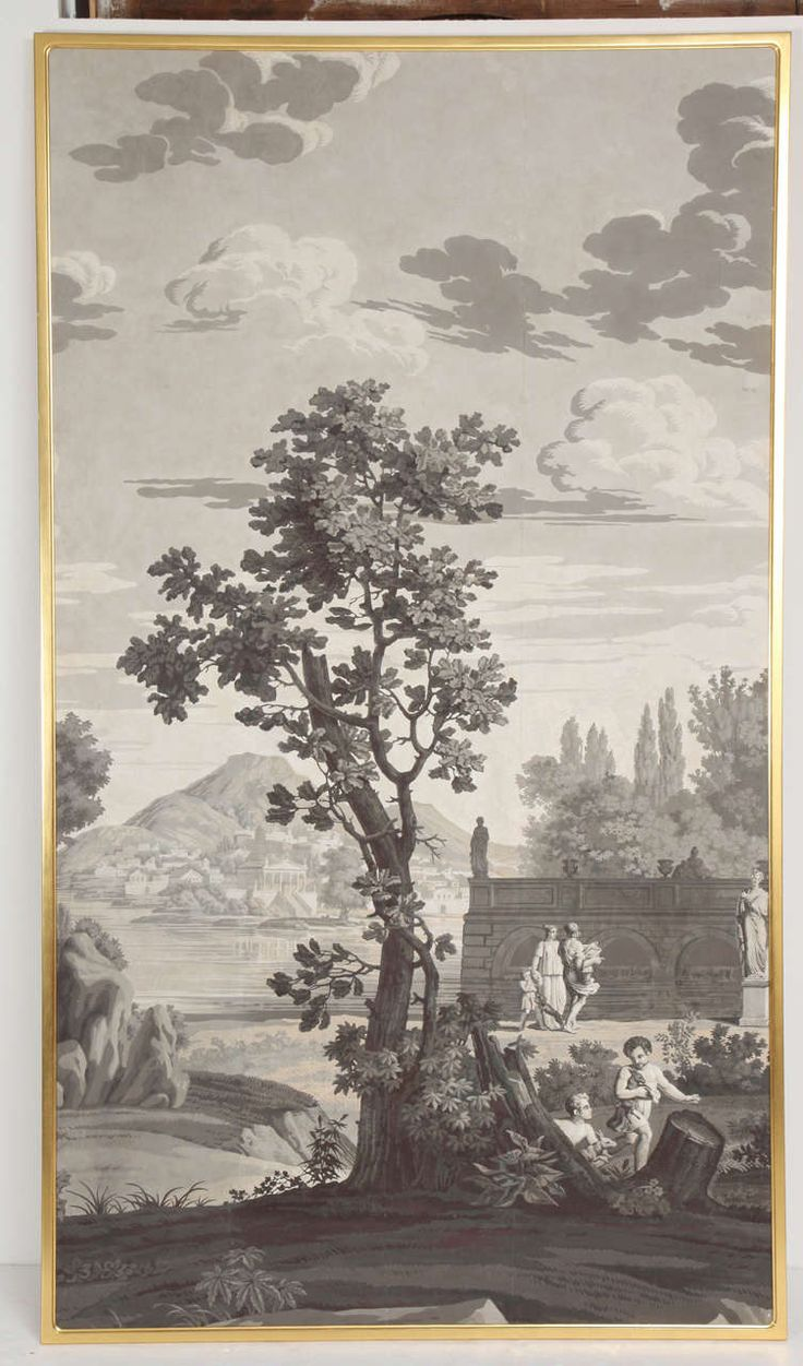 1820s joseph dufour set of grisaille wall panels - Grisaille wallpaper ...