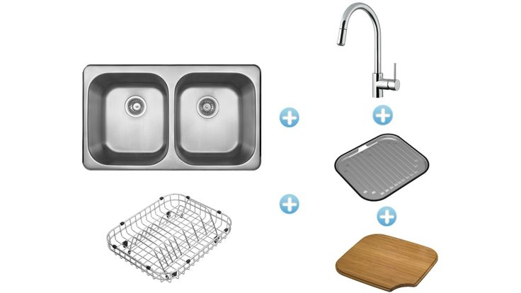 Harvey Norman Abey The Daintree Inset Sink Package with Siena Pull-Out Kitchen Mixer