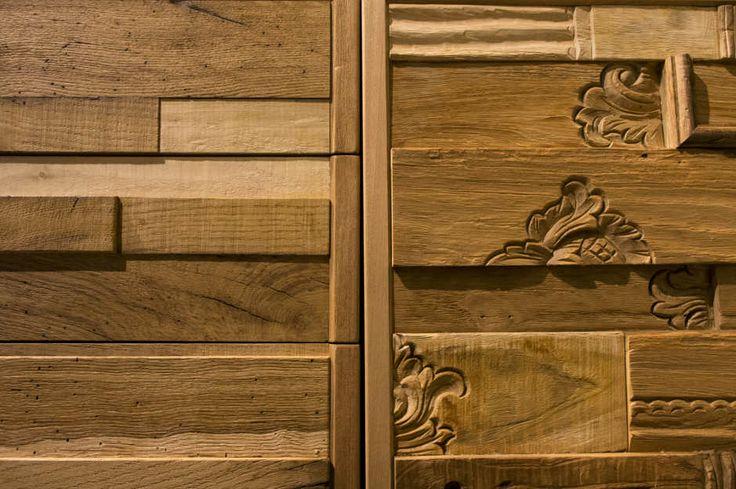 Mobile realizzato con legni di recupero realizzato nella nostra falegnameria 2 #arredo #interior design #valter pisati