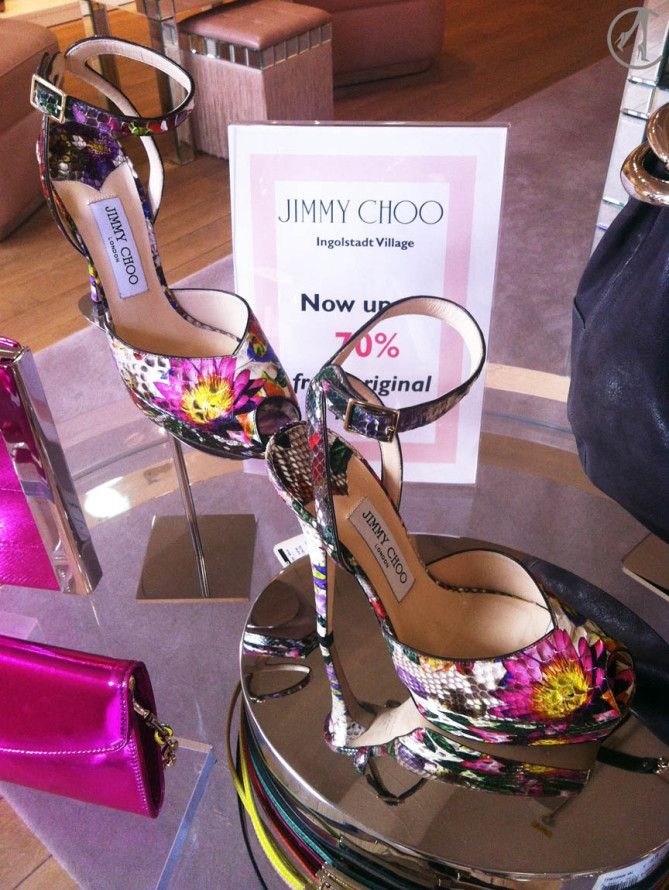 Jimmy Choo Flower Phyton Sandals Outlet Sale