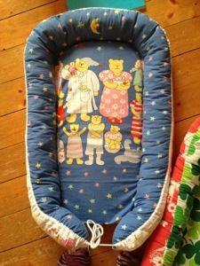 Babynest made by @Annika Skogberg in vintage fabric