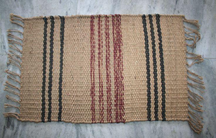 Turkish Jute Door Mat Handmade Room Doormats Floor Mat Jute Area Rug  #Unbranded