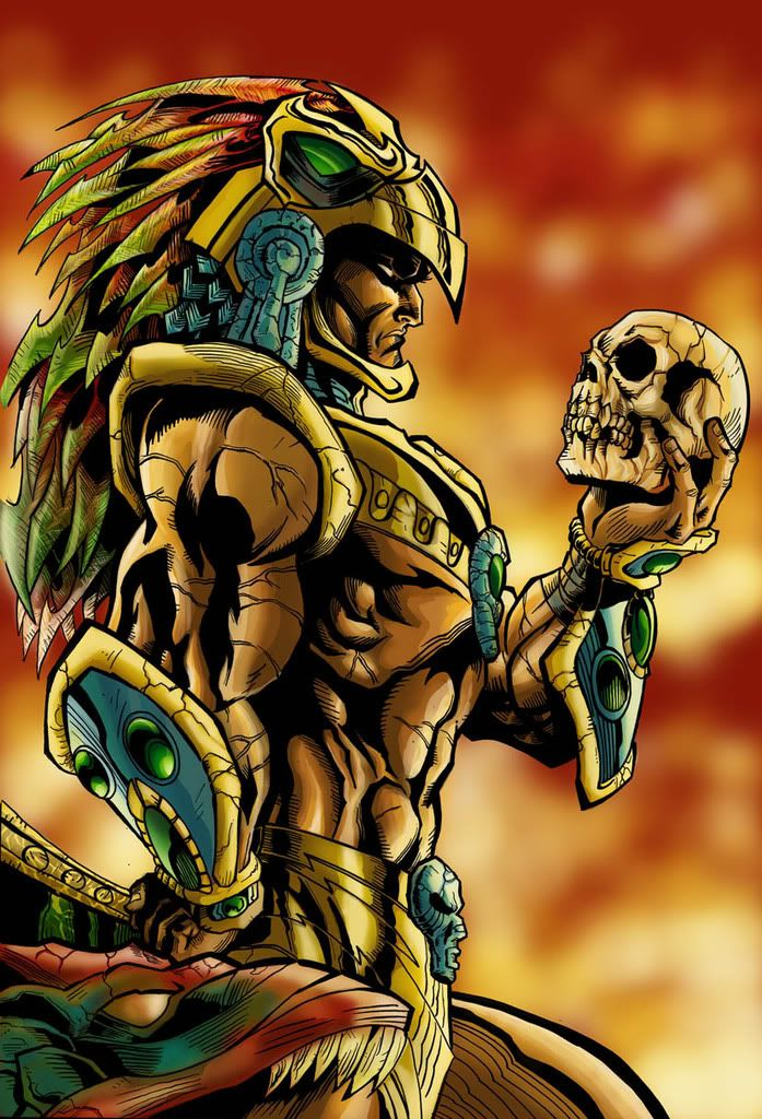 Download Free Download aztec warrior with skull tattoo design to use and take to your artist.