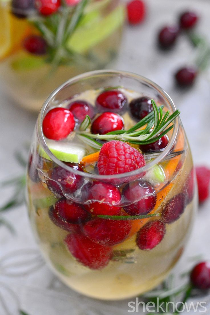 White Christmas sangria is the most delicious way to celebrate