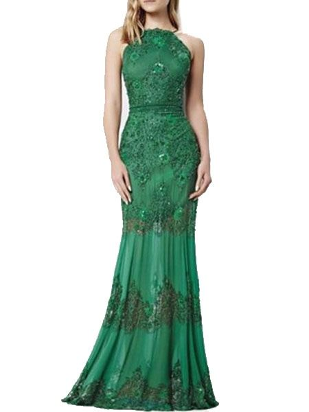 Exquisite Halter Lace Party-dress  from fashionmia.com