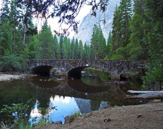 Ahwahnee Bridge on the Merced River in Yosemite