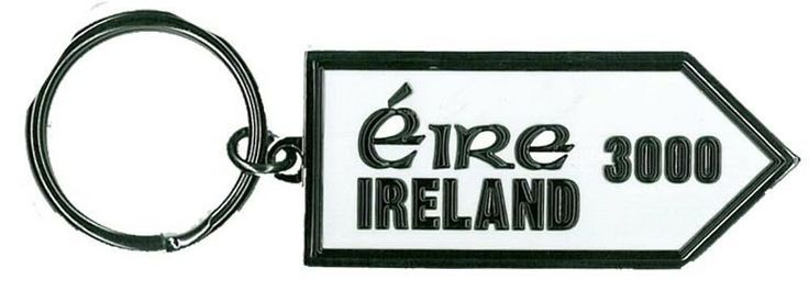 Eire 3000 miles Sign Post Metal keyring  http://paddywhackery.ie/home/keyrings/