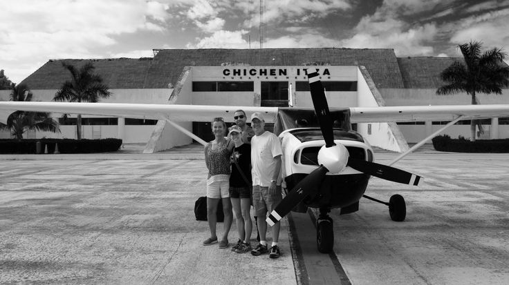 By Airplane from isla de Cozumel to Chichen Itza. A 45 minute flight only! The best way to see the Mayan Ruins.#Archeological #Site #ChichenItza #Cozumel #Airplane #guide #private #flytours