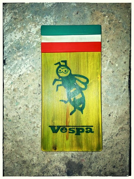 Hey, I found this really awesome Etsy listing at https://www.etsy.com/listing/286561035/vespa-lovershandmade-wooden-signwasp3d