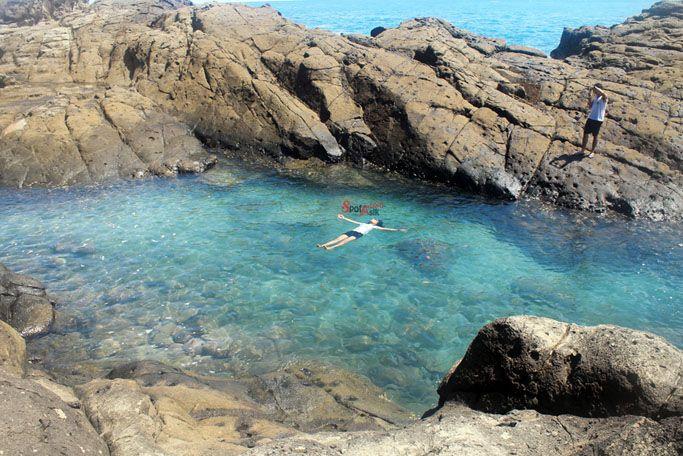 Laguna Wediombo, kolam alami khas Gunungkidul