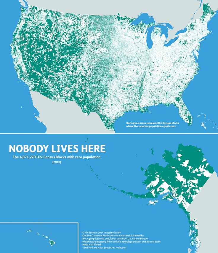 nobody lives here the nearly 5 million census blocks with zero population a block is