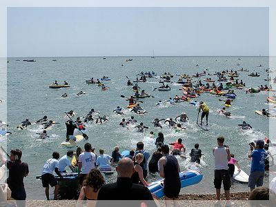 PADDLE ROUND THE PIER: This annual watersports and beach lifestyle celebration offers something for all tastes whether you like to join-in or simply sit in the shade with a cocktail. There are performances, world class races on the water and also the chance to have-a-go yourself.  #WhatsoninBrighton http://www.paddleroundthepier.com/