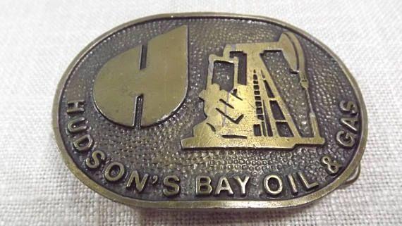 Vintage Hudson's Bay Oil and Gas Belt Buckle