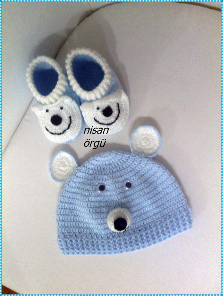 0-1 yaş bebek şapka ve patik