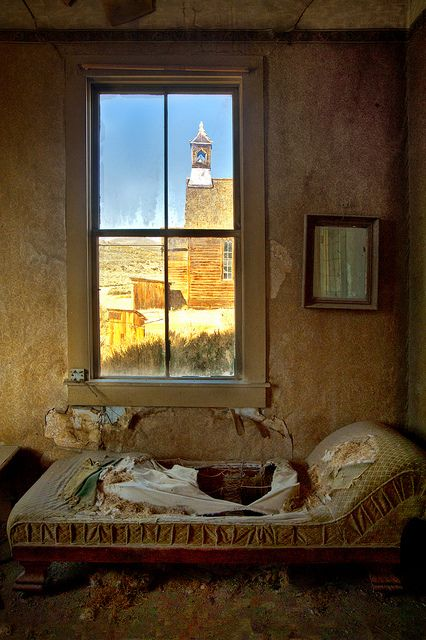 View From a Window - Bodie church, in Bodie (ghost town), Eastern California.