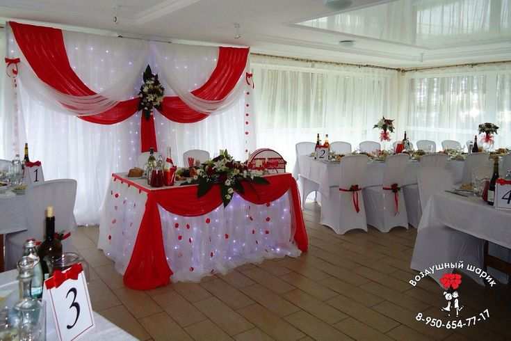 Blanco con un toque de rojo decoracion fiestas for Arreglos para boda en salon