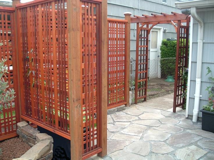 Corner Trellis Ideas Part - 48: Privacy Corner Back Fence