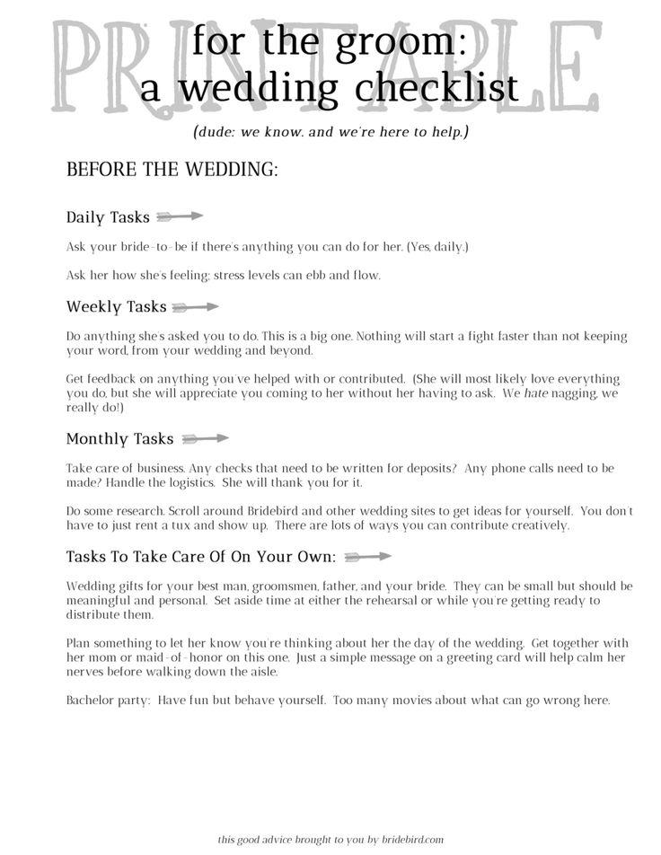 Best Wedding Planning  Checklist Images On   Wedding