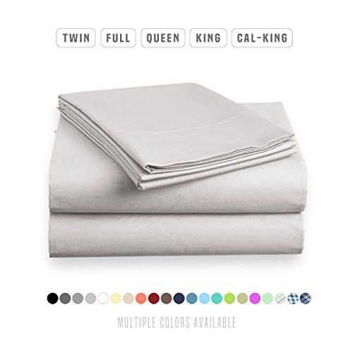 Luxe Bedding Bed Sheet Set - Brushed Microfiber 2000 Bedding - Wrinkle, Fade, Stain Resistant - Hypoallergenic - 4 Piece - Unique Christmas Presents for family (King, Silver)