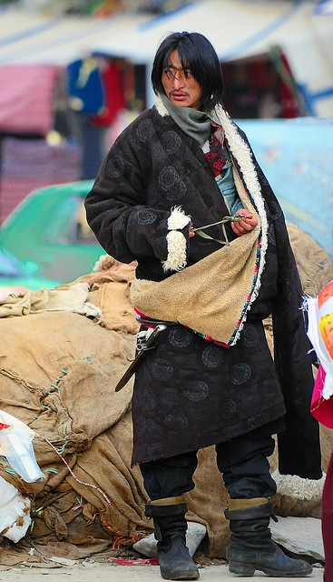 Typical Tibetan dress