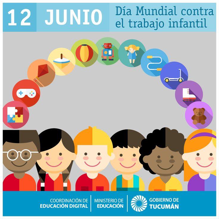 INFANCIA FELIZ  La Organización Internacional del Trabajo (OIT) lanzó, en el año 2002, el Día Mundial Contra el Trabajo Infantil para concentrar la atención en la magnitud global del trabajo infantil y en las medidas para erradicarlo. 🎡 Que todos los niños puedan ejercer libremente su derecho a la #educación, #salud y #juego.