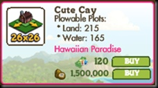 The 26x26 Expansion for Hawaiian Farm is available for coconuts...