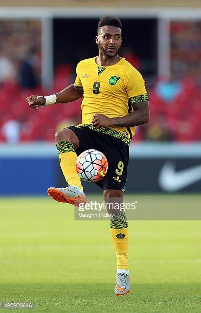 Giles Barnes of Jamaica during the 2015 CONCACAF Gold Cup Group B match between Jamaica and El Salvador at BMO Field on July 14 2015 in Toronto...