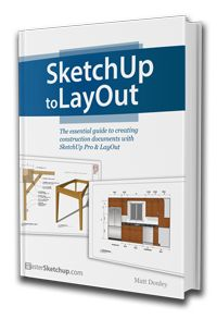 The SketchUp to LayOut book is the essential guide for woodworkers, carpenters, architects, contractors, builders, and designers.