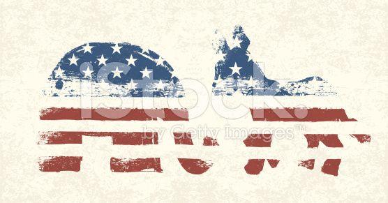 Democratic and Republican Political Symbols royalty-free stock vector art