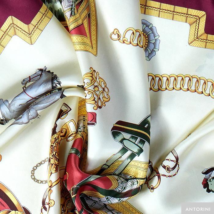 ANTORINI Reale Cavallerizza Silk Scarf