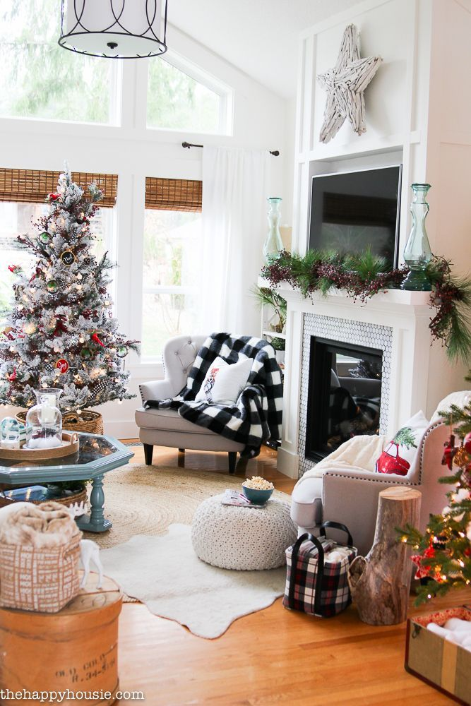 Best 25+ Christmas Living Rooms Ideas On Pinterest | Cottage Fireplace,  Wood Stove Fireplace Insert And Stove Fireplace Part 82
