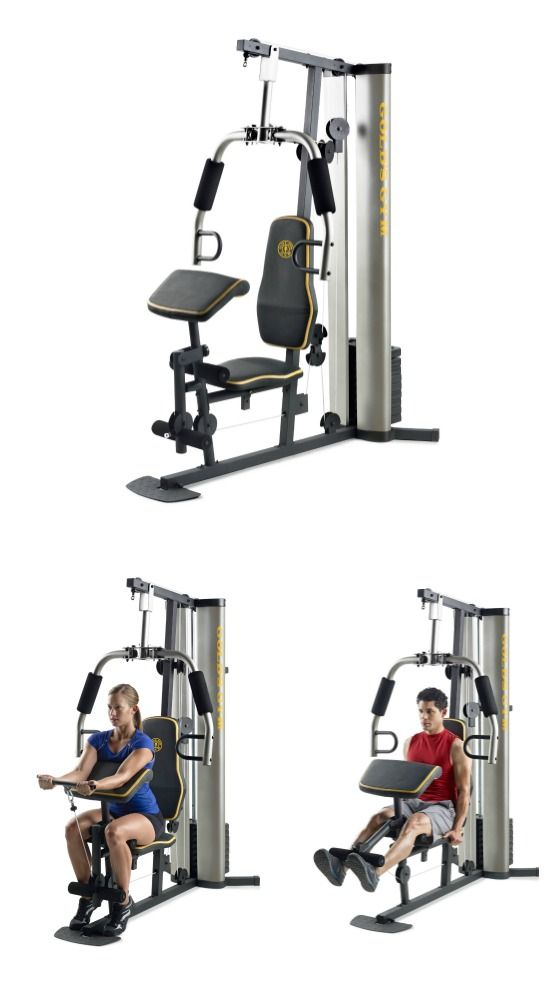 The Gold's Gym System offers full-body strength training at home. It features a variety of strength-training exercises that let you build strength in your upper and lower body. The padded, adjustable vinyl seat offers support and comfort. Receive free shipping when you order from hayneedle.com.