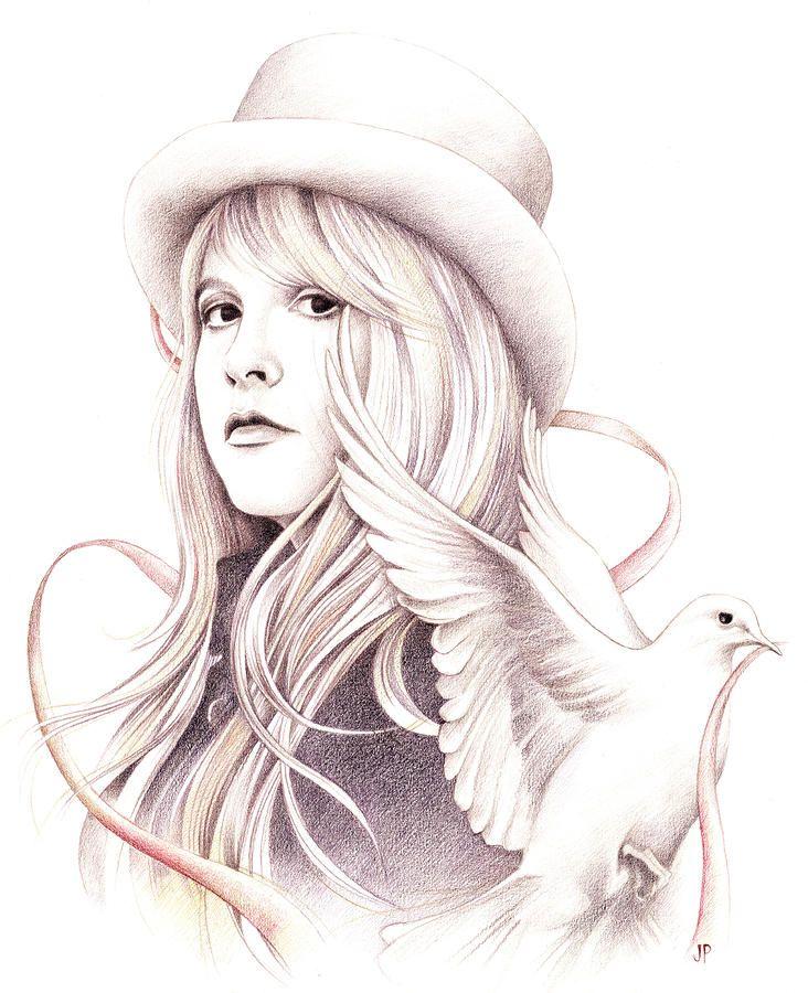 White Winged Dove By Johanna Pieterman Stevie Nicks Dove Drawing Drawings