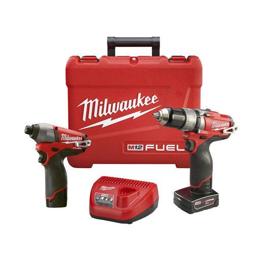 Milwaukee M12 FUEL 12V Cordless Lithium-Ion 1/2 in. Hammer Drill Driver & Impact Driver Combo Kit. M12 FUEL 12V Cordless Lithium-Ion 1/2 in. Hammer Drill Driver - 2404-80. Hammer Drill Driver - 2404-80 .   eBay!
