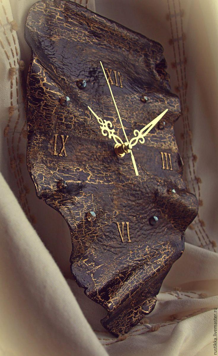 """Купить Часы настенные """"Черный тюльпан"""" - черный, часы настенные, часы дали"""