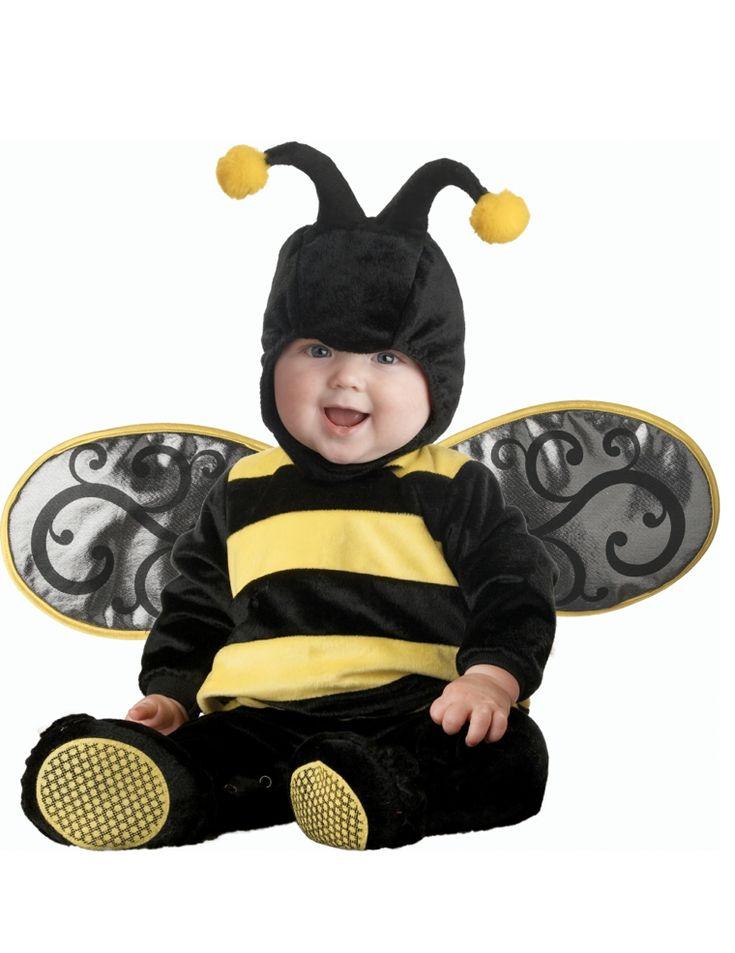 bebé niña vestida como avispa