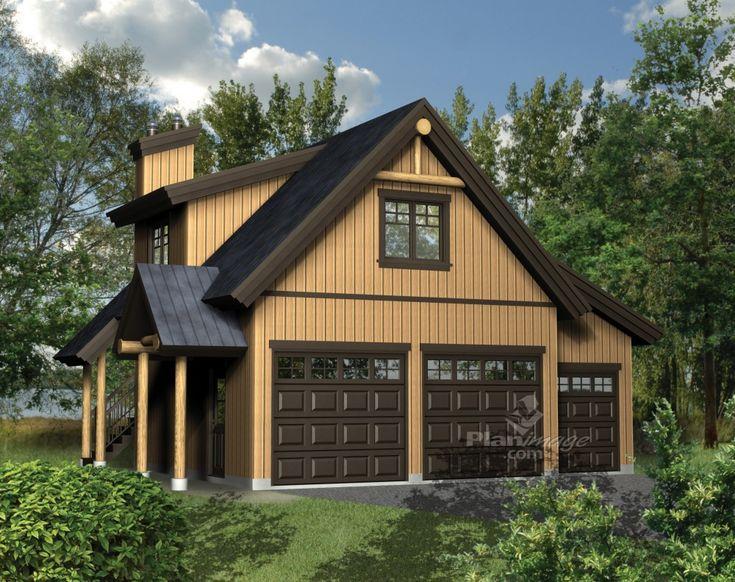 77 best 3 car garage plans images on pinterest garage for Plan de garage avec loft