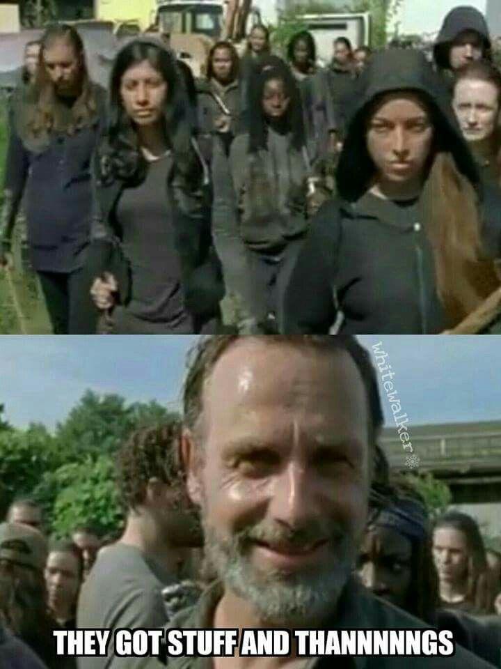Rick smiles - season 7B - Fangirl - The Walking Dead